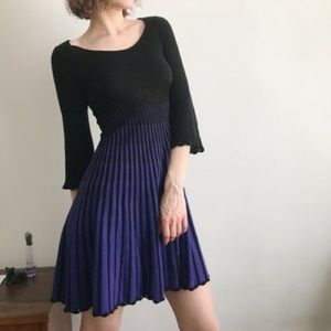 French Connection cotton knit swing mini dress 6